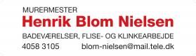 Murermester Henrik Blom Nielsen